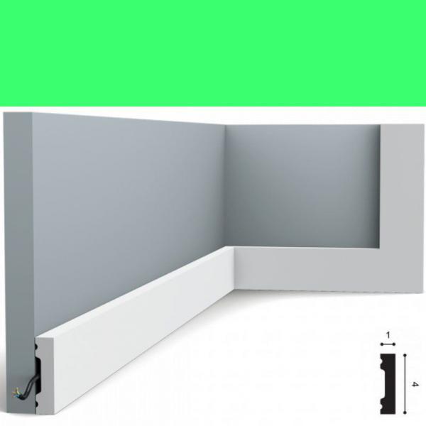 Fussleiste 4 x 1 cm SX162 Flexible Orac Decor