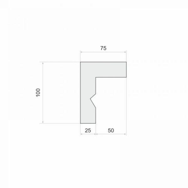 Gardinenstange Blende zum Kleben LKO12