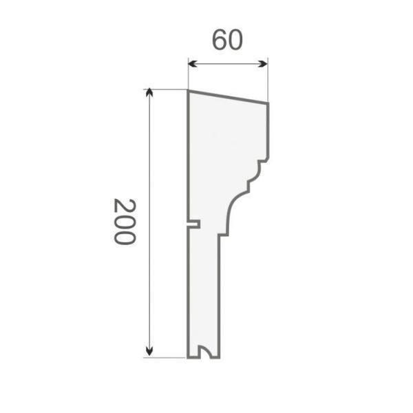 Gesims-Stuck Profil GE-4C