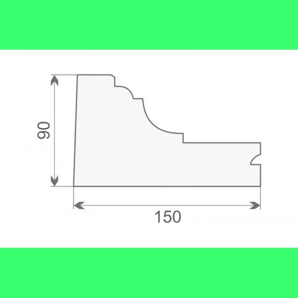 Gesimsprofile styropor GE4