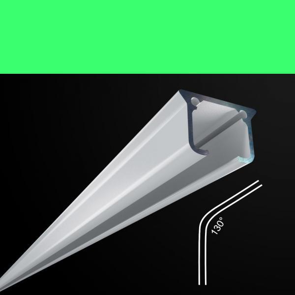 Rundbogen für Alu-Vorhangschienen 130°
