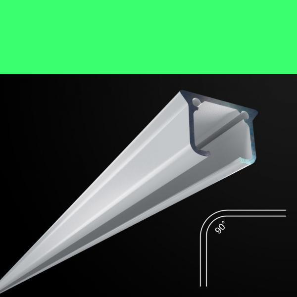 Rundbogen für Alu-Vorhangschienen 90°