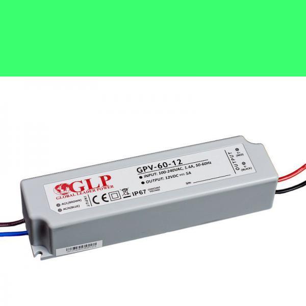 Schaltnetzteil Trafo Netzgerät wasserdicht IP 67 GPV 12V/5A 60W