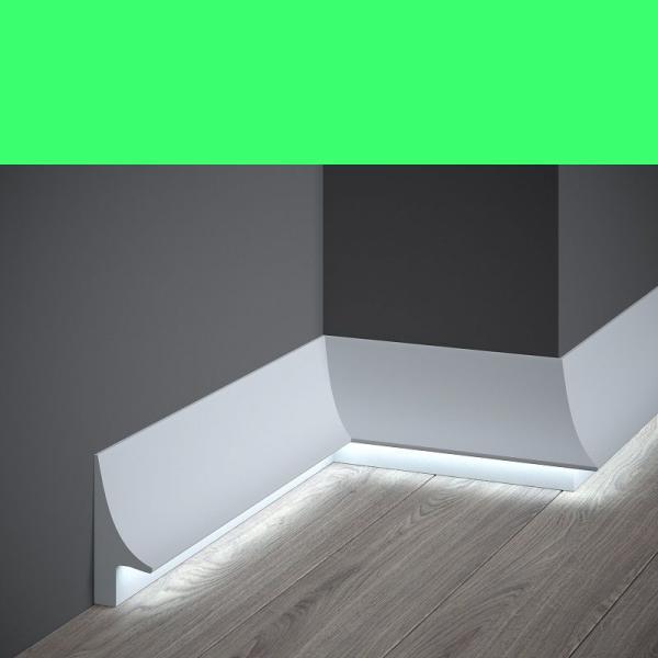 Sockellichtleiste QL007 Weiß aus Duropolymer