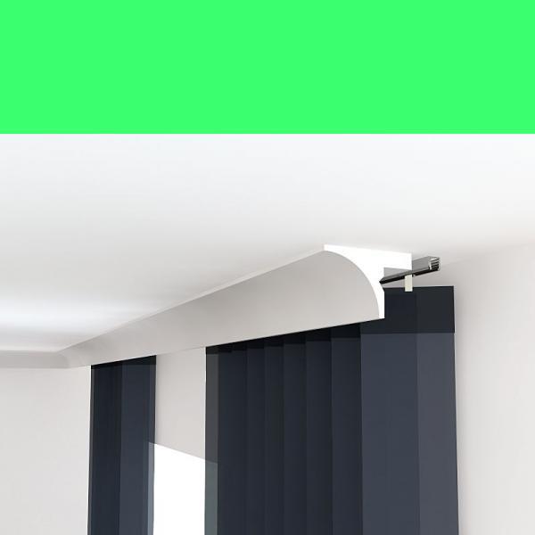 Stuck Verkleidung für Vorhangschiene LKO6