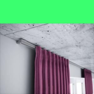 Vorhangschiene alu 1 läufig Grau