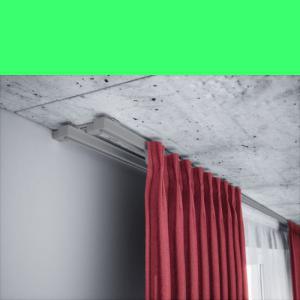 Vorhangschiene alu 2 läufig Grau