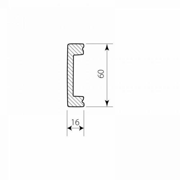 Wandleiste Kabelkanal DSS04