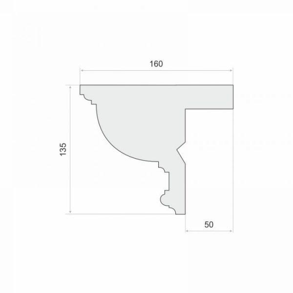 Zierleiste für Gardinenschiene Verkleidung LKO10